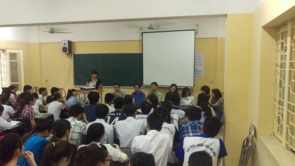Tham dự buổi giao lưu hướng nghiệp cho sinh viên trường ĐH KHTN